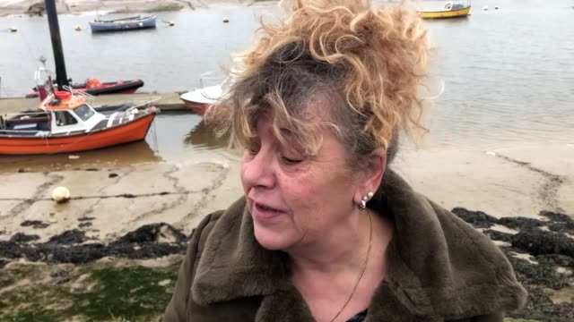 lizbet ramus and son reggie, from shoreham-by-sea, celebrate her christmas eve £1 million euromillions win at sussex yacht club. ms ramus has... - human interest stock videos & royalty-free footage