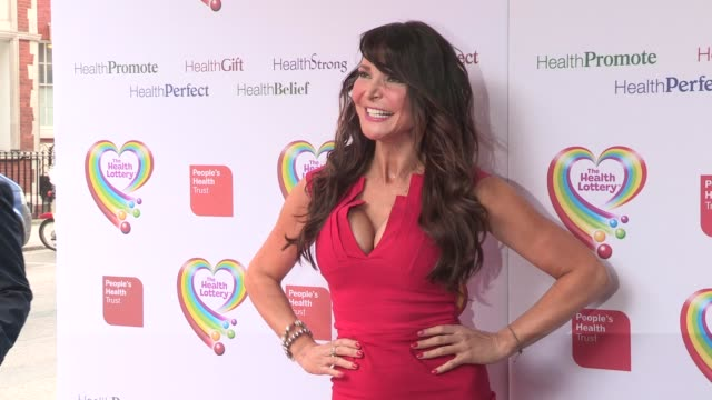 lizzie cundy at health lottery launch at claridge's hotel on march 28, 2013 in london, england - claridge's stock videos & royalty-free footage