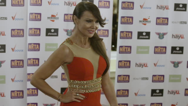 lizzie cundy national reality tv awards on september 29 2016 in london england - reality tv stock videos and b-roll footage