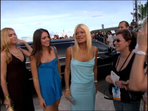 lizzie grubman and the power girls arriving at the 2005 mtv video music awards red carpet - mtv1 stock-videos und b-roll-filmmaterial