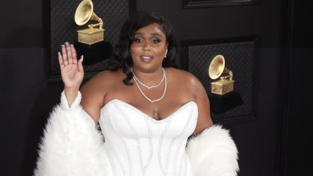 slomo lizzo at staples center on january 26 2020 in los angeles california - grammy awards stock videos & royalty-free footage