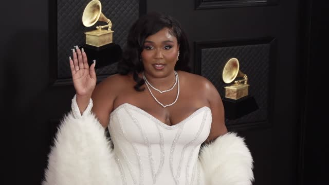 lizzo at the 62nd annual grammy awards at staples center on january 26 2020 in los angeles california - grammy awards stock videos & royalty-free footage