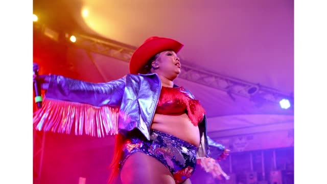 Lizzo performs onstage at Ticketmaster during the 2019 SXSW Conference and Festivals at Stubb's BarBQ on March 14 2019 in Austin Texas