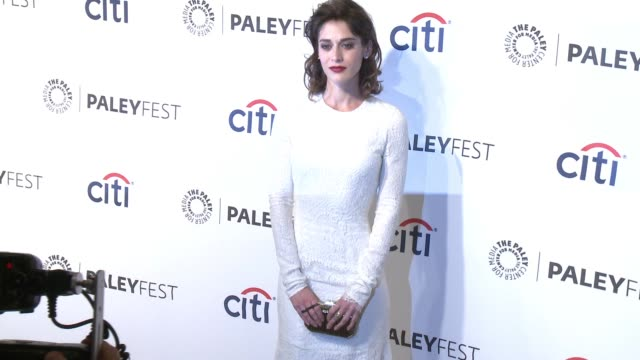 """lizzy caplan at the """"masters of sex"""" panel - paleyfest 2014 at dolby theatre on march 24, 2014 in hollywood, california. - the dolby theatre stock videos & royalty-free footage"""
