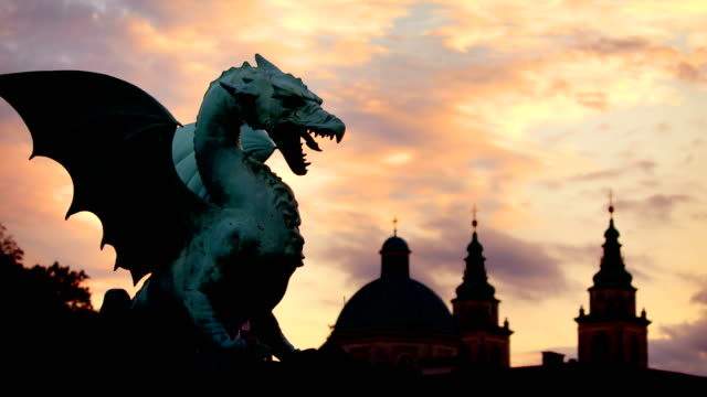 ljubljana dragon slovenia - dragon stock videos & royalty-free footage