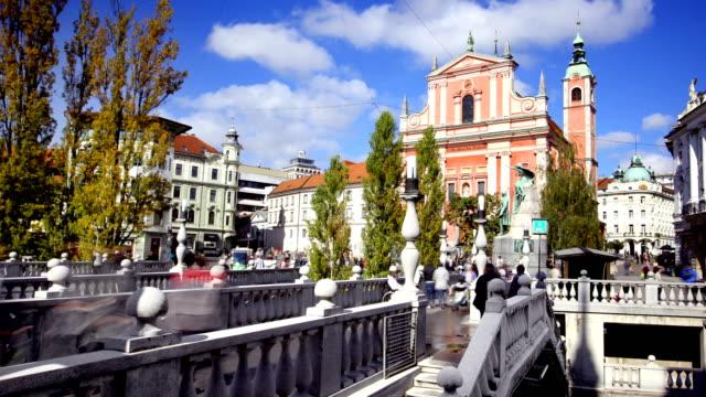 ljubljana slovenia timelapse - slovenia stock videos & royalty-free footage