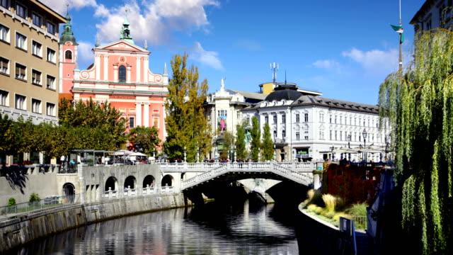 vídeos de stock, filmes e b-roll de timelapse de ljubljana eslovénia - eslovênia
