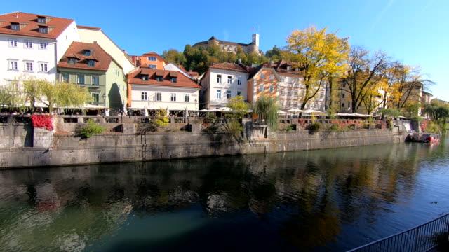 ljubljanica river - ljubljana, slovenia - digital enhancement stock videos & royalty-free footage