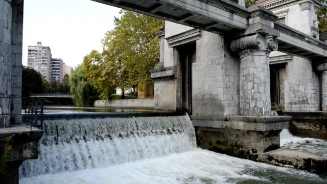 vídeos y material grabado en eventos de stock de río ljubljanica - liubliana