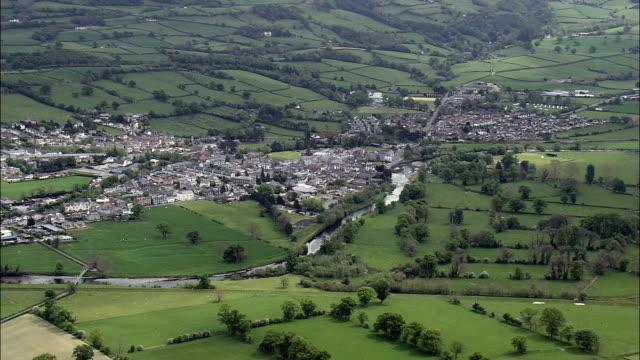 Llanrwst-Luftaufnahme-Wales, Conwy, Llanrwst, Vereinigtes Königreich