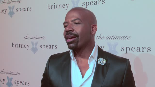 interview lloyd boston on what brings him out today on britney's style on what he's excited to see in the collection on britney's different business... - lingerie stock videos & royalty-free footage