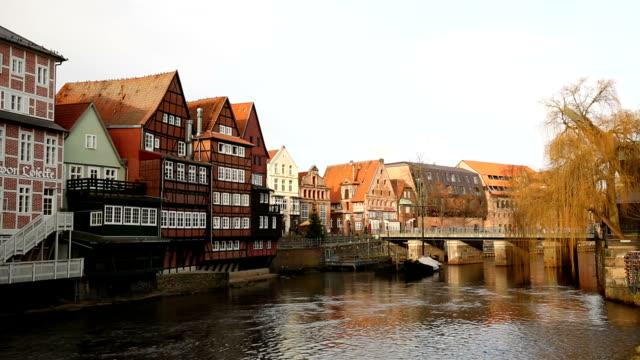 lüneburg in deutschland - timber stock-videos und b-roll-filmmaterial
