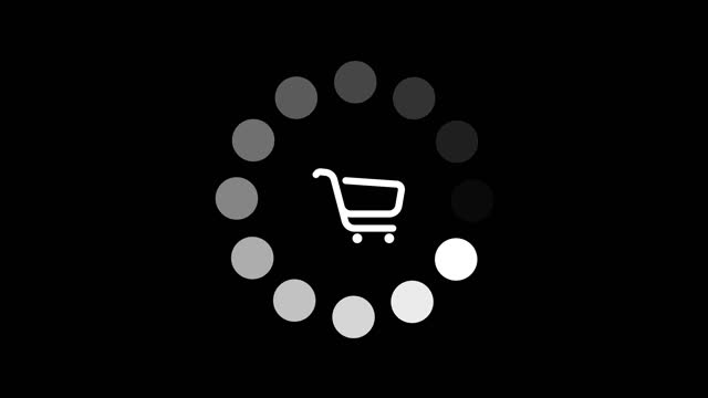 loader spinning with a shopping cart in the middle - finishing stock videos & royalty-free footage