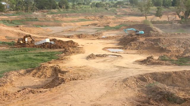 loaders excavation. - dump truck stock videos & royalty-free footage