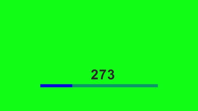 vídeos de stock e filmes b-roll de loading bar design standard horizontal - acabar