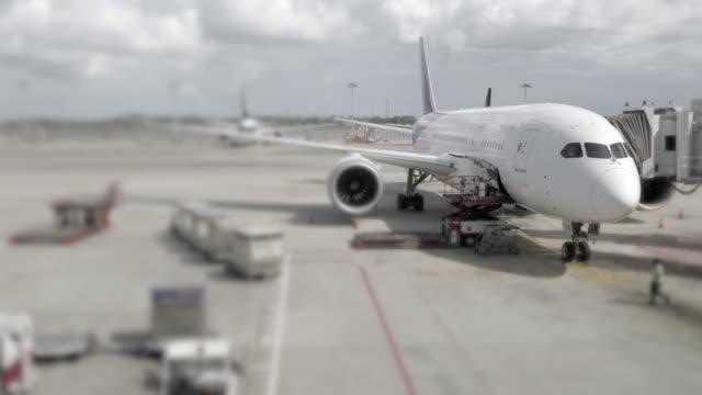 Laden der Ladung Betrieb für Passagierflugzeug
