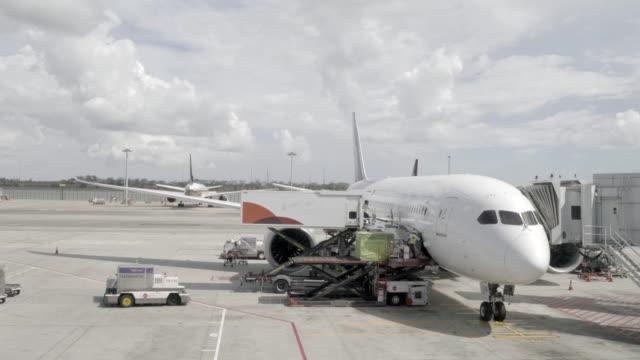 荷積レッグサイド操作の旅客機