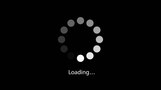 loading circle icon animation on black background. 4k video loopable preloader - loading stock videos & royalty-free footage