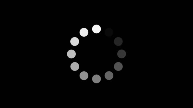 loading circle icon loopable. - loading stock videos & royalty-free footage