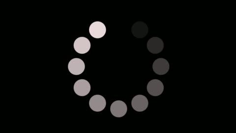vídeos y material grabado en eventos de stock de cargando icono de círculo en la animación de fondo del canal alfa - transparent
