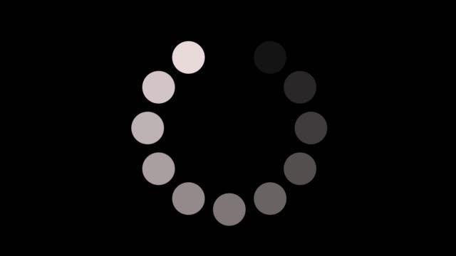 loading circle icon auf alpha-kanal-hintergrundanimation - völlig lichtdurchlässig stock-videos und b-roll-filmmaterial