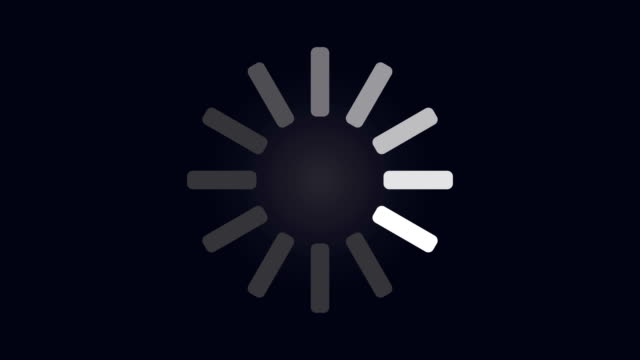 loading circle icon on dark blue background animation - downloading stock videos & royalty-free footage