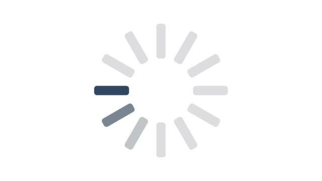 vídeos de stock e filmes b-roll de loading circle icon on white background animation - esperar