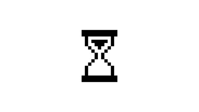 loading hourglass cursor loop animation. 4k video - loading stock videos & royalty-free footage