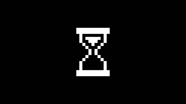 loading hourglass cursor loop animation. 4k video - computer icon stock videos & royalty-free footage