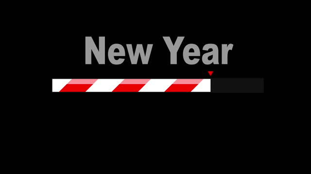 loading new year 2021. loading bar or loading icon. concept of system software update and upgrade. - the end stock videos & royalty-free footage