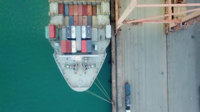 loading of cargoes on the cargo ship - commercial land vehicle stock videos & royalty-free footage