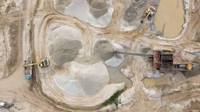 loading of iron ore on very big dump body truck in lignite mine - dump truck stock videos & royalty-free footage