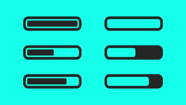 vídeos y material grabado en eventos de stock de barra de progreso de carga - vector animado - loading