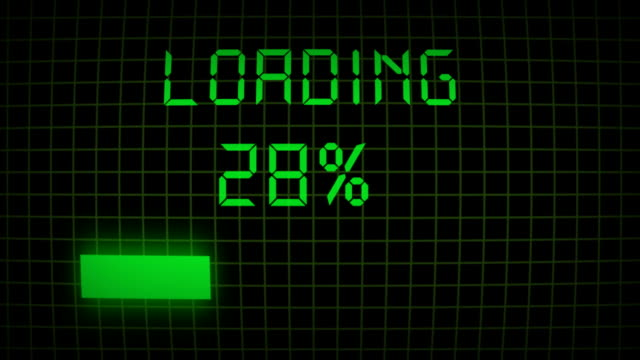 loading progress bar with percentage - loading screen stock videos & royalty-free footage