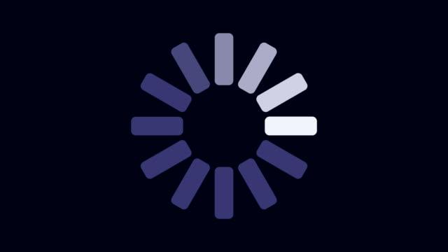 loading progress graphical presentation on dark background animation - loading stock videos & royalty-free footage