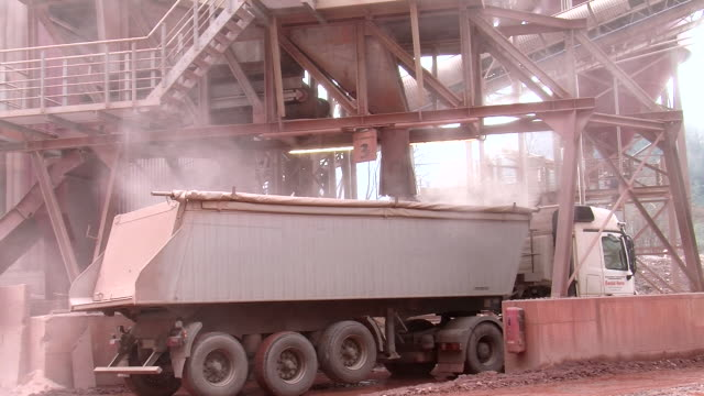 ms loading terminal for trucks in quarry / taben-rodt, rhineland-palatinate, germany - quarry stock videos & royalty-free footage