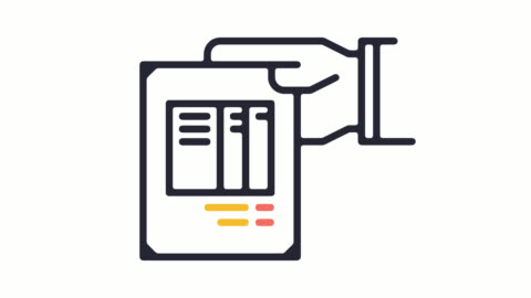 アルファ付きロビー料金ライン アイコン アニメーション - paperwork点の映像素材/bロール