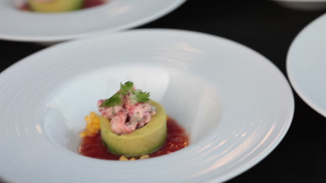 lobster and avocado salad - avocado salad stock videos & royalty-free footage