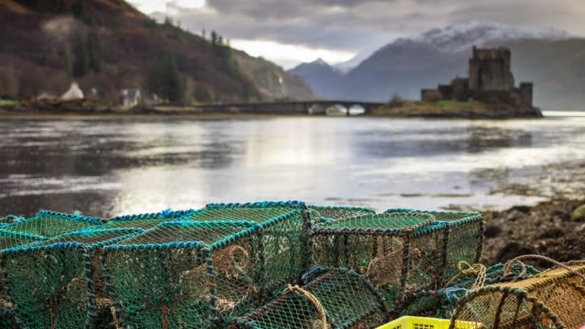Lobster Pots and Eilean Donan Castle - Timelapse