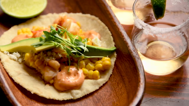 lobster taco close up - lobster stock videos & royalty-free footage