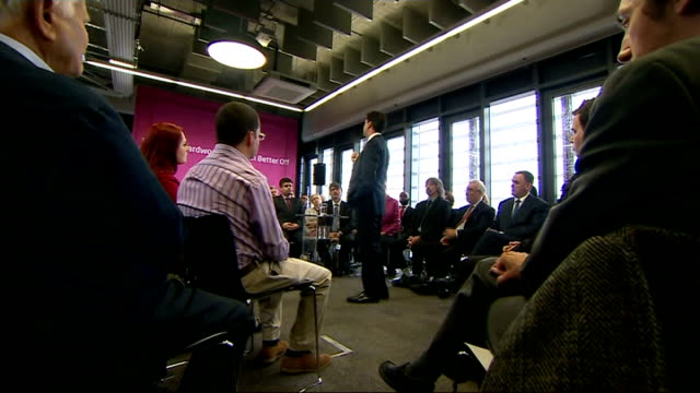 local and european elections aftermath / nick clegg under pressure essex thurrock int miliband addressing people at meeting miliband speaking - thurrock stock videos and b-roll footage
