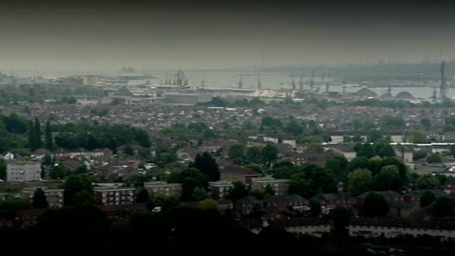 Local and European Elections / Impact of MPs' Expenses scandal ENGLAND Southampton Skyline of Southampton city residential housing interior of St...