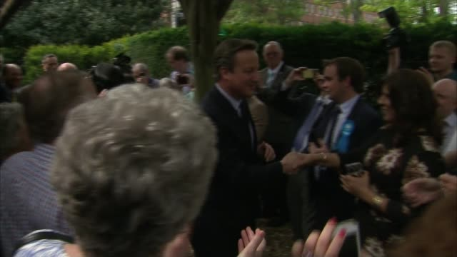 Local and Regional elections / London Mayoral election results roundup Cambridgeshire peterborough EXT David Cameron MP applauded by party workers...