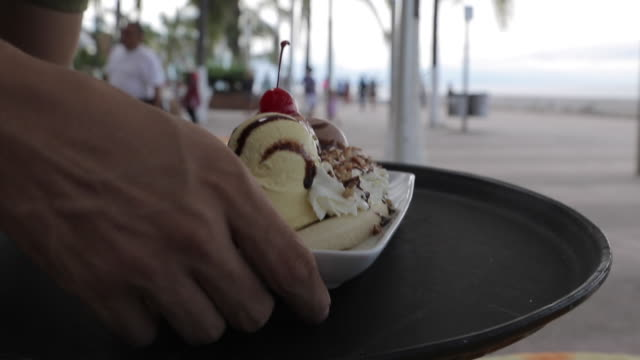 Local Desert Served in Downtown, Puerto Vallarta, Jalisco, Mexico, North America