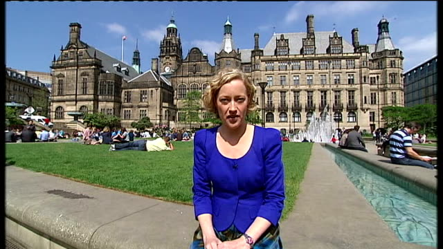 possible backlash against spending cuts england south yorkshire sheffield ext general view sheffield city council building union jack flag flying on... - sheffield stock videos and b-roll footage