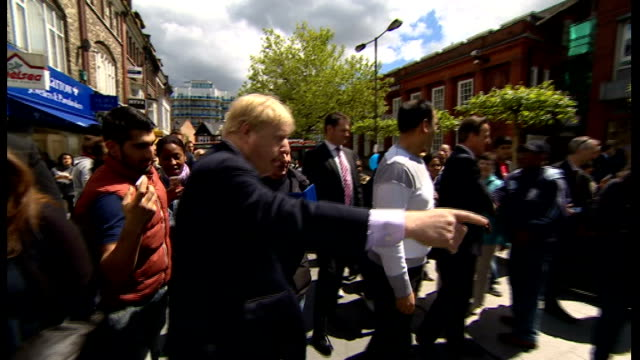 cameron campaigns with johnson / cameron interview; england: london: harrow: ext prime minister david cameron mp and mayor of london boris johnson... - harrow stock videos & royalty-free footage