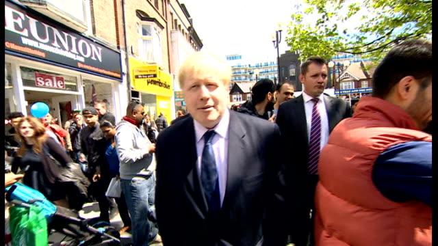 david cameron adn boris johnson campaign in harrow; england: london: harrow: ext various of prime minister david cameron and london mayor boris... - harrow stock videos & royalty-free footage