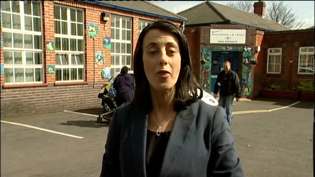 ed miliband launches labour campaign england west midlands birmingham ext reporter to camera - west midlands stock videos and b-roll footage