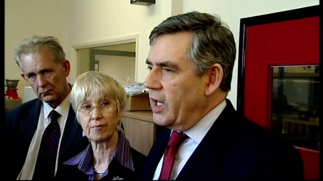 gordon brown campaign tour in milton keynes; more of brown greeting ceravision staff sot / brown speaking to ceravision staff sot - one of reasons i... - economy class stock videos & royalty-free footage