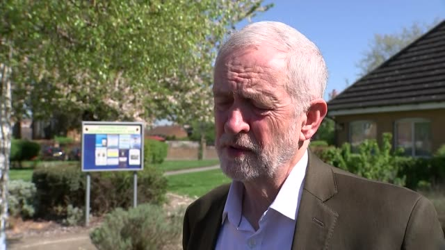 jeremy corbyn campaigning in thurrock and interview jeremy corbyn mp interview re windrush and local elections sot - thurrock stock videos and b-roll footage
